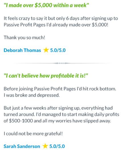 Passive Profit Pages money making
