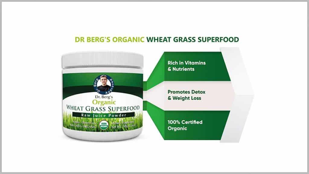 Dr. Berg's Superfood Raw Wheatgrass Juice powder-benefits