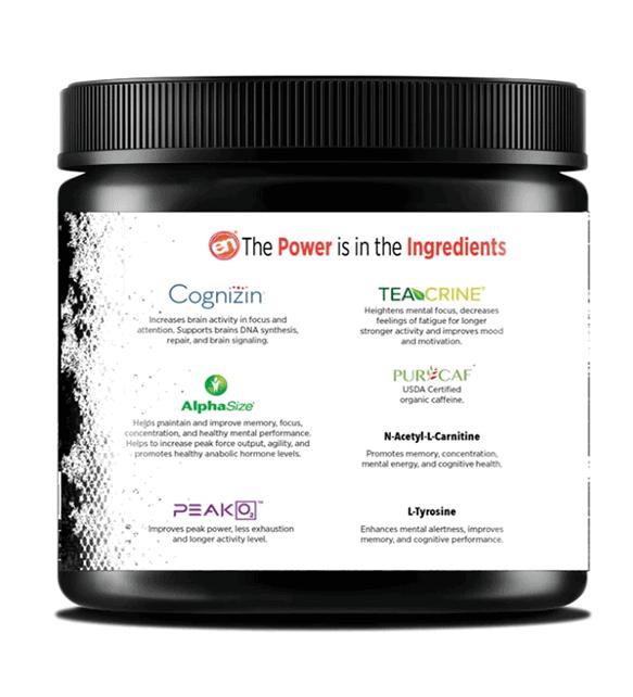 Energy + Focus ingredients