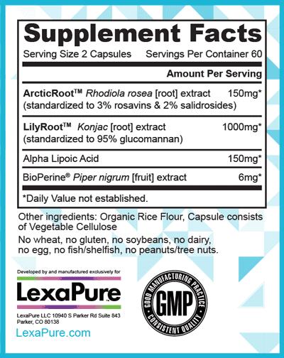 LexaPure LumaSlim Supplement Facts
