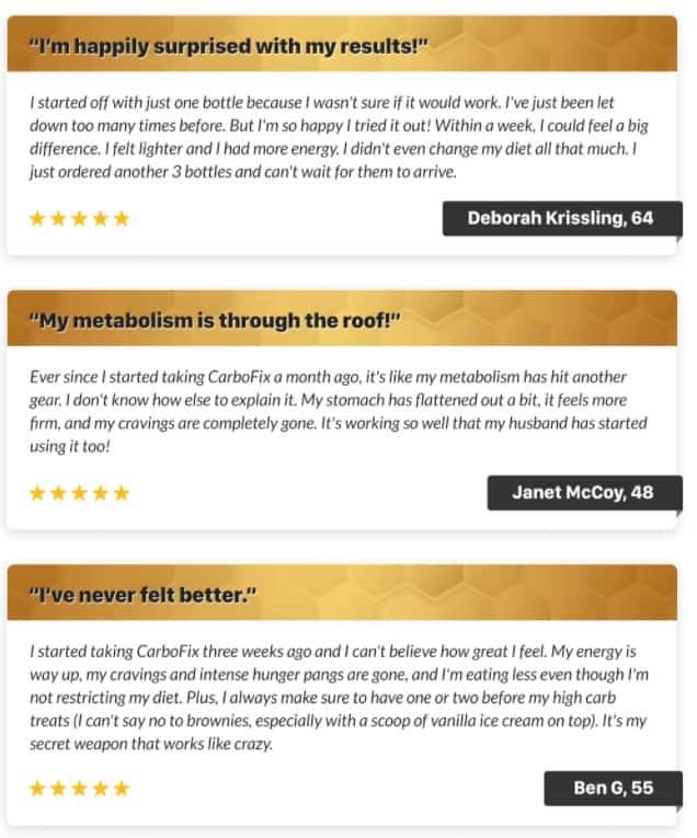 CarboFix Customer reviews