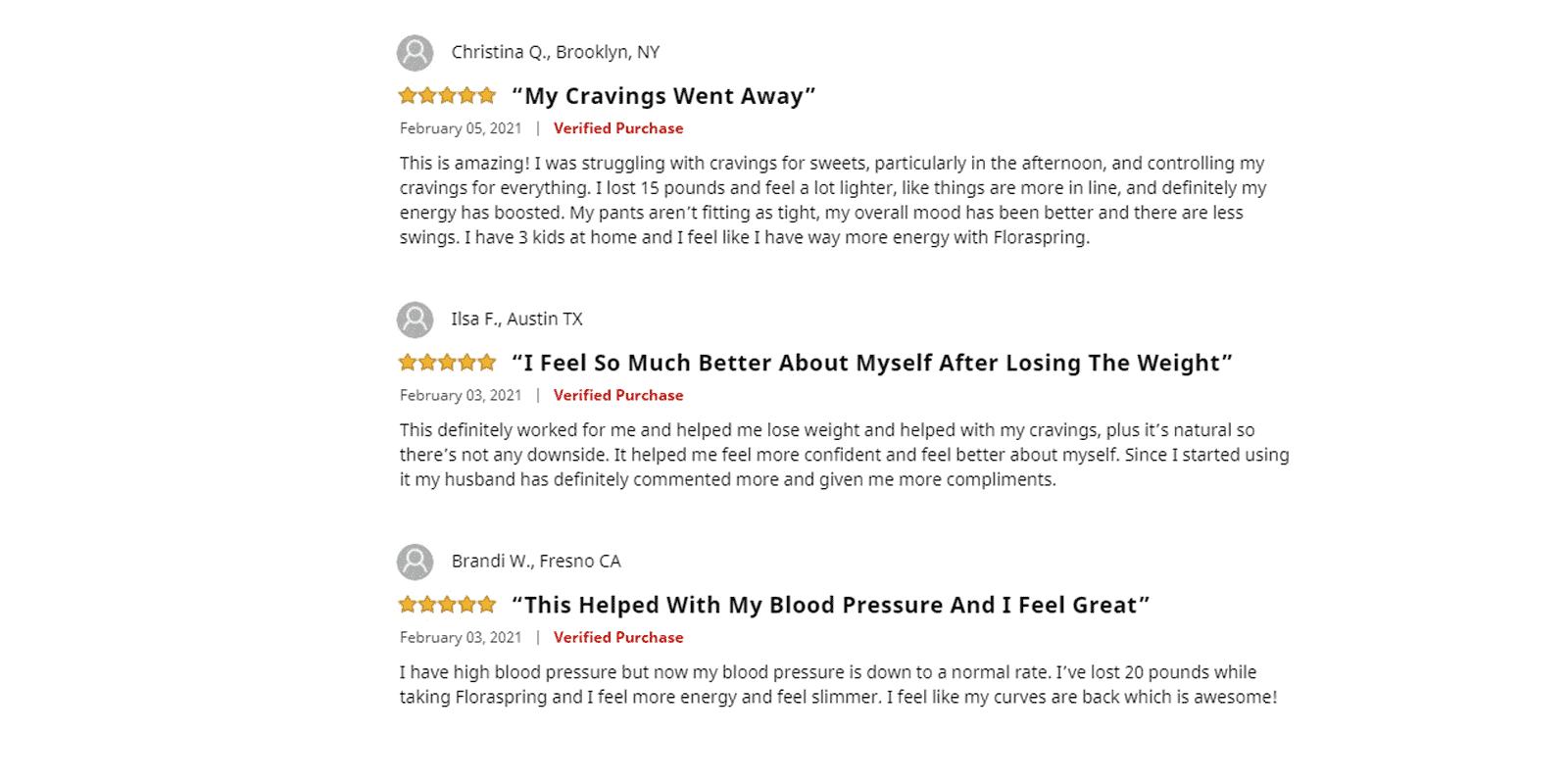 Floraspring customer reviews