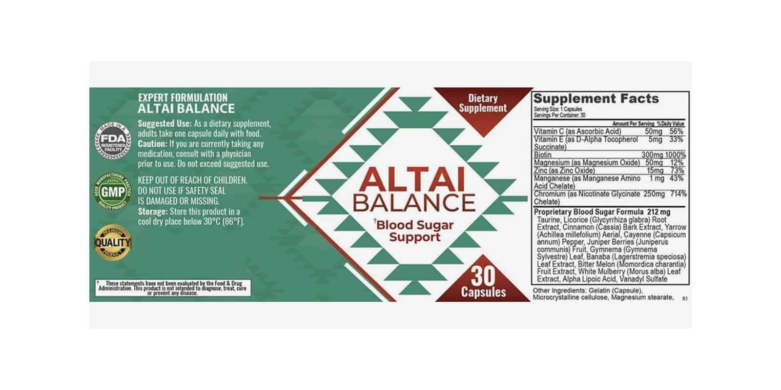 Altai Balance Dosage