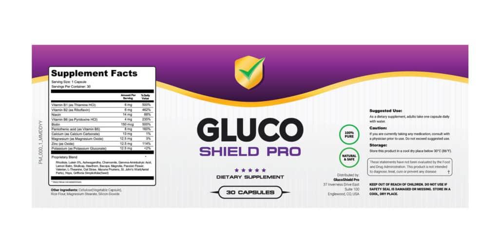 Gluco Shield Pro Ingredients