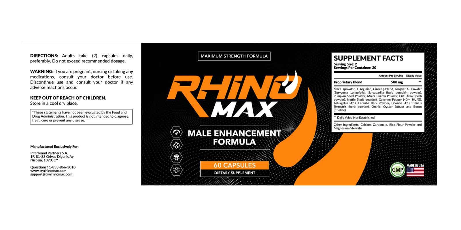 Rhino Max Dosage