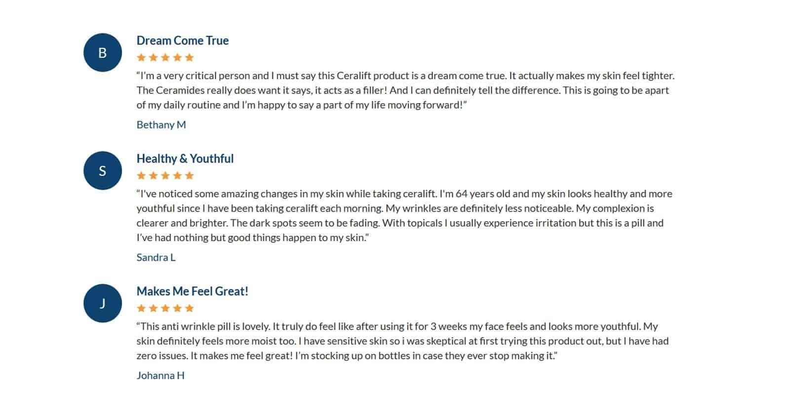Del Mar CeraLift Customer Reviews