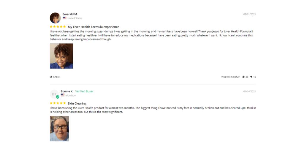 Liver Health Formula customer reviews