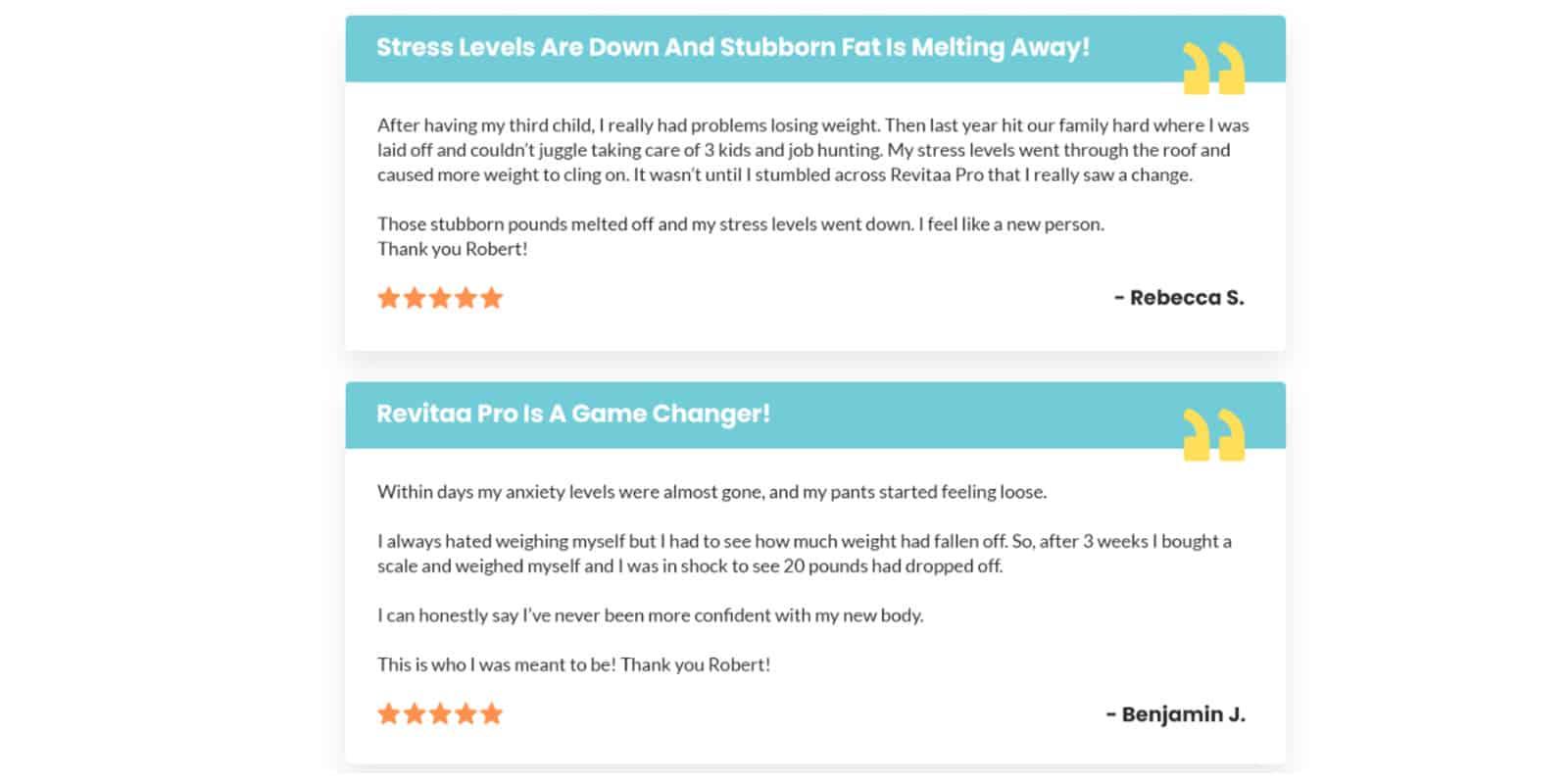 Revitaa Pro Customer Reviews