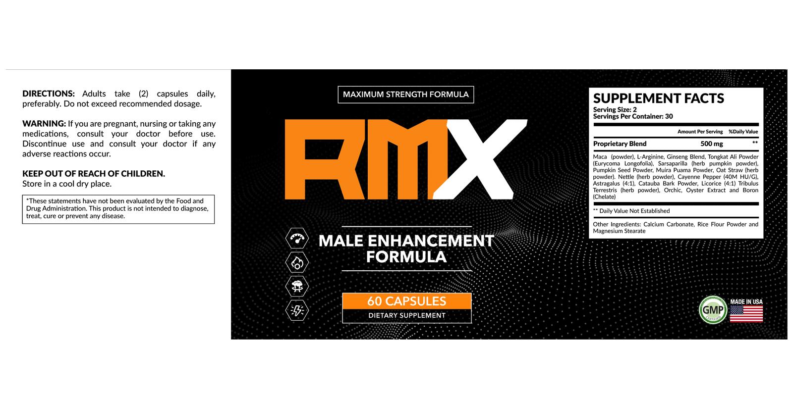 RMX Male Enhancement Dosage