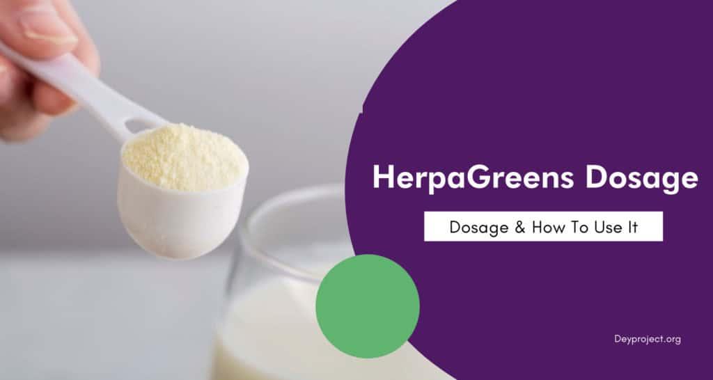 HerpaGreens Dosage
