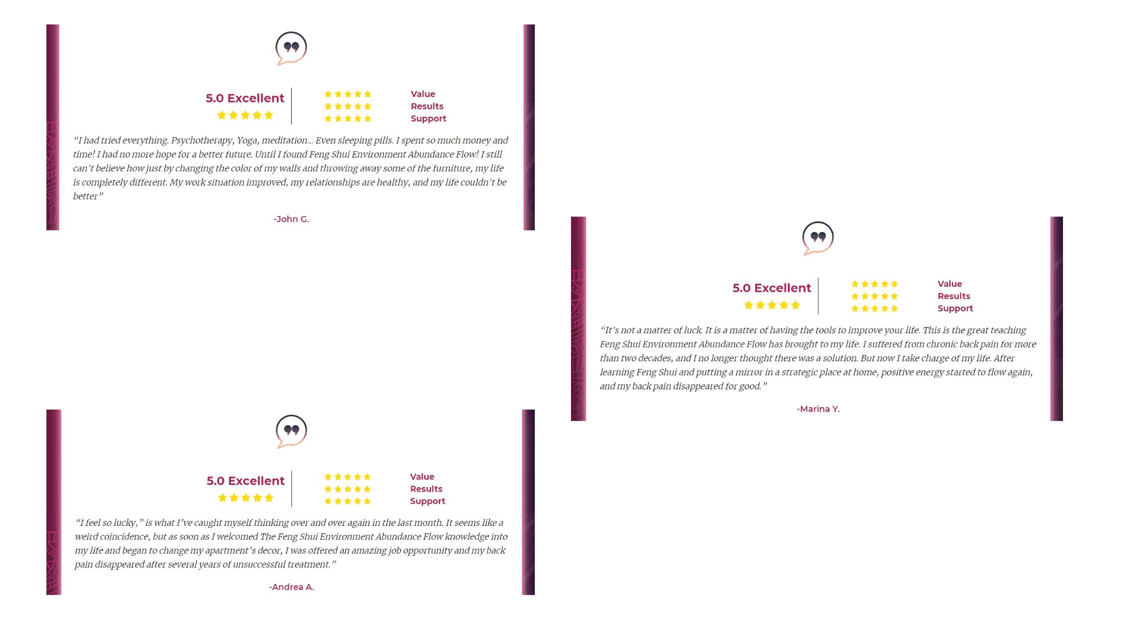 Feng Shui Environment Abundance Flow Customer Reviews